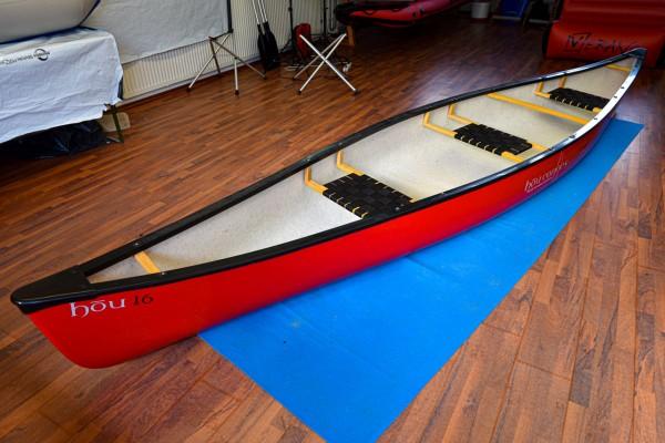 Hou Canoes - Hou 16´ (3 Sitze) - rot (Testboot)
